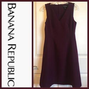 Banana Republic Sz 8 P Merlot Sleeveless Dress